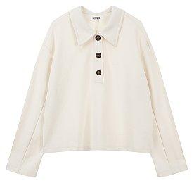 롱 슬리브리스 카라 티셔츠