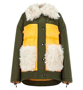 쉬어링 퍼 덕다운 자켓