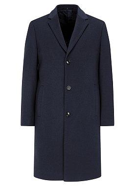 [18FW] 스티치 카라 싱글 코트