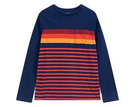 ★갭키즈 18년 HOLIDAY★ [키즈 남아 6-14세] 포켓 스트라이프 크루넥 티셔츠