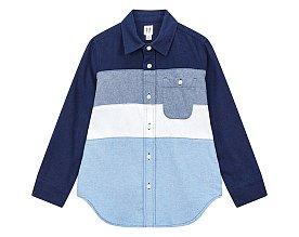 ★갭키즈 18년 HOLIDAY★ [키즈 남아 6-14세] 컬러 블록 코튼 셔츠