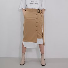 Skirt Button Down London Beige