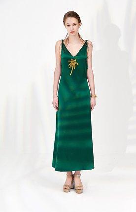 Coconut Tree Dress(GREEN)