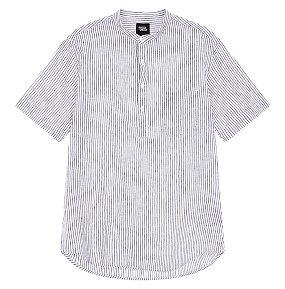 코튼린넨 반팔 풀오버 셔츠