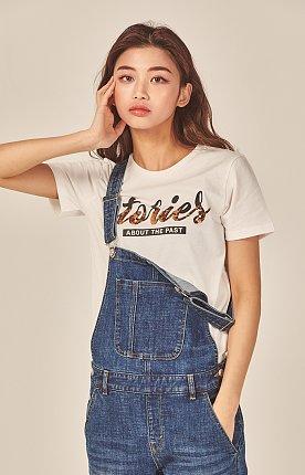 스팽글 반팔 티셔츠