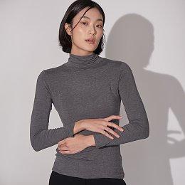 자주 온 여성 터틀넥 티셔츠
