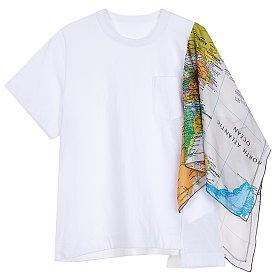 월드 스카프 반팔 티셔츠