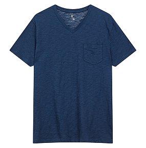 브이넥 슬럽 티셔츠