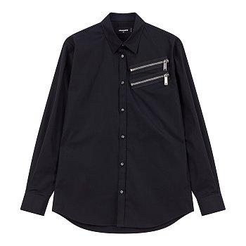 더블 지퍼 포인트 셔츠