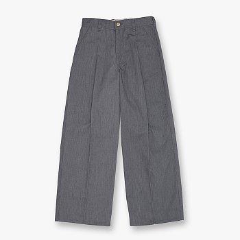 WIDE PANTS GREY 유니버셜 오버롤 와이드 팬츠