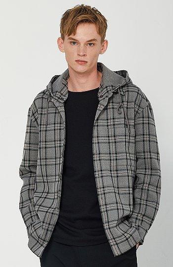 [CASUAL] 체크 후디 아우터형 셔켓