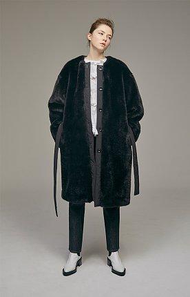 Faux-fur oversized padded coat