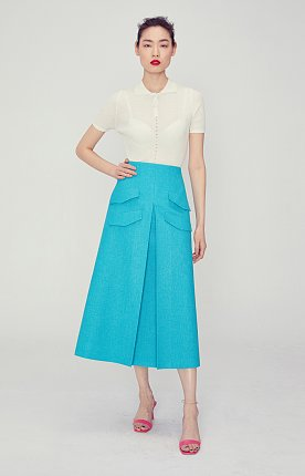 Kyra Pocket Skirt(AQUA BLUE)