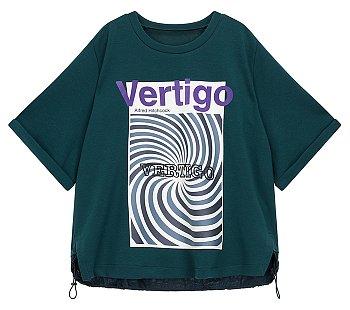 [Utility] 백 스트링 그래픽 반팔 티셔츠