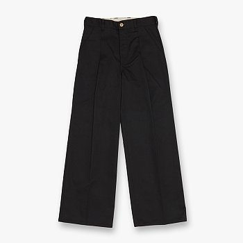 WIDE PANTS BLACK 유니버셜 오버롤 와이드 팬츠
