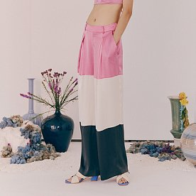 TRIPLE COLOR WIDE PANTS