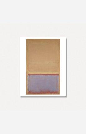 [마크 로스코]UNTITLED (Orange) 56 x 71 cm  (원목 프레임)