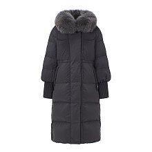 [V AIR] 하이넥 퍼 카라 구스다운 코트