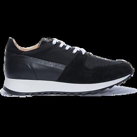 runner 01 leather/cordura black
