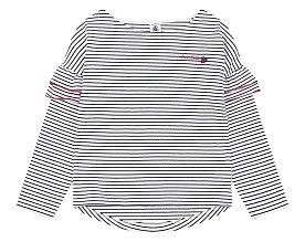 [키즈 여아] 레이어 슬리브 스트라이프 티셔츠