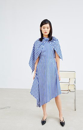 CAPE GINGHAM CHECK ONEPIECE