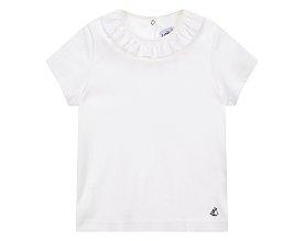 [키즈 여아] 러플 장식 티셔츠