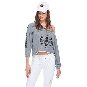 TRIPPY LOGO PULLOVER 무스너클 여성 트리피 로고 풀오버 티셔츠 (19SM19LS609MK209)
