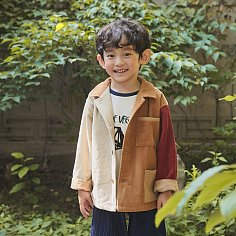Color Corduroy Jacket [Beige]