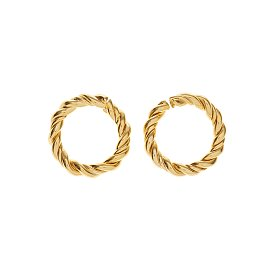 Midnight Sun Large Twist Earrings_GOLD