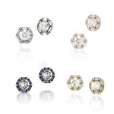 [부부의세계 김희애 착용]Hexagon Stud Earring_silver