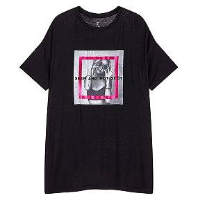 실사그래픽 오버사이즈 티셔츠