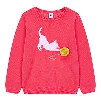 [키즈 여아] 폼폼 장식 크루넥 스웨터 [3-12세]