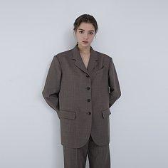 Jacket Boy Melange Brown