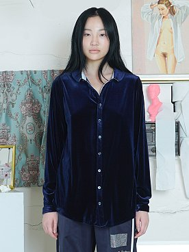 COLORATION VELVET SHIRT [NAVY]