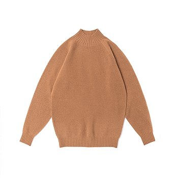 Whole Garment Mockneck_Camel