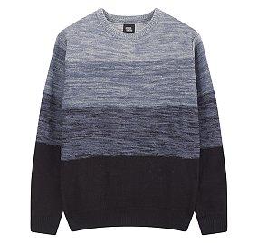 크루넥 텍스쳐 스웨터