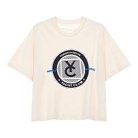 ★위키미키 착용★[VOV X VESPA]텍스처드 서클 그래픽 반팔 티셔츠