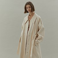 LEATHER COAT - IVORY