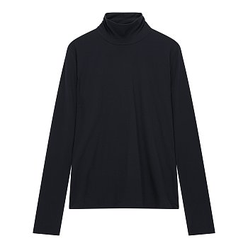 하이넥 솔리드 슬림 티셔츠
