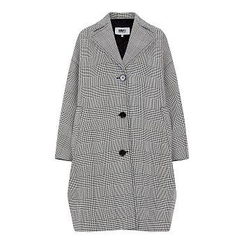 [MM6]글렌체크 패턴 싱글 코트