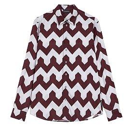 유니크 지그재그 패턴 셔츠
