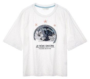 바룩 스팽글 자수 티셔츠