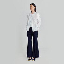 FLARED TROUSERS (NAVY)