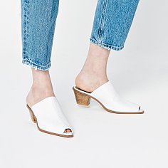 50mm Pointed Thread Mule (White)