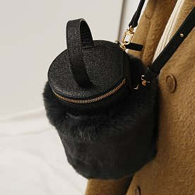 DETACHABLE FUR CYLINDER - SPARKLING BLACK