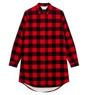 플란넬 보아본딩 셔츠