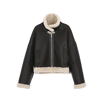 [김태희 착용] SHEARING AVIATOR JACKET - BROWN