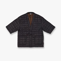 ★EXCLUSIVE★ QUILTING ROBE JACKET BLACK 그라미치 퀄팅 로브 자켓