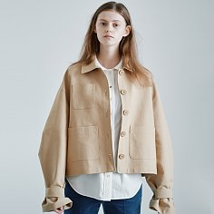 ROMANTIC CROPPED TRENCH [BEIGE]