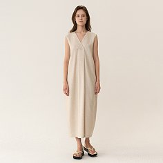[ESSENTIAL] Soft Linen Dress Natural